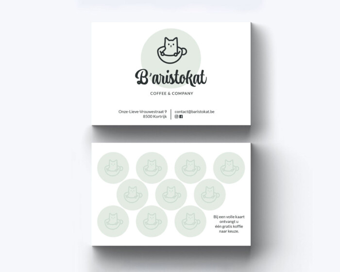 Baristokat business cards