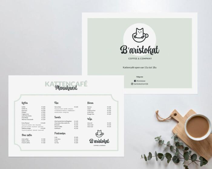 Baristokat menu card LR