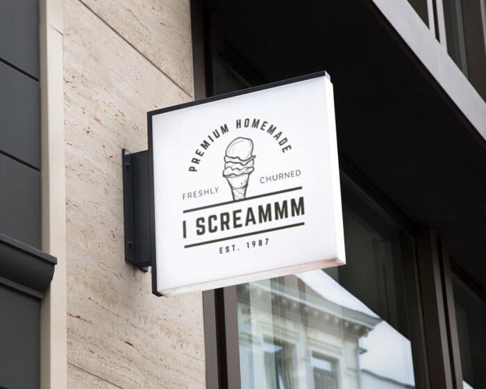 I screammm wall sign LR
