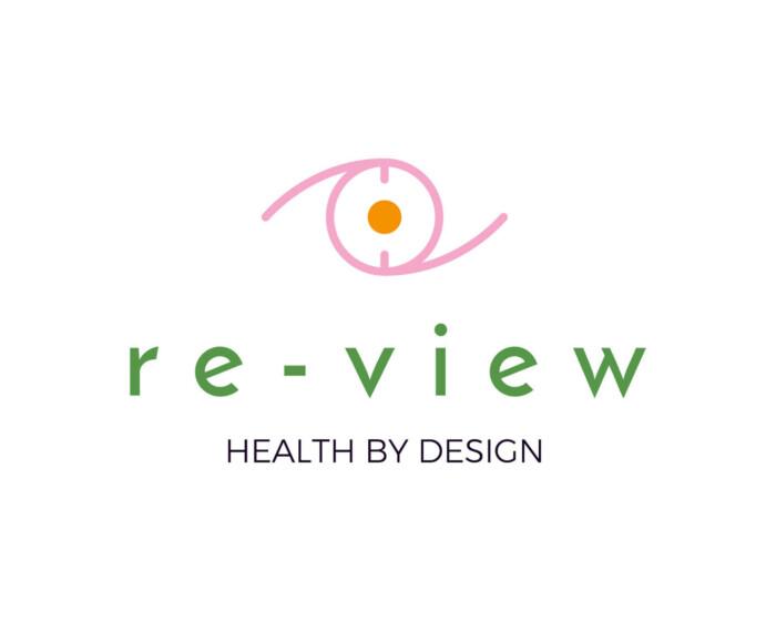 Re view logo full white
